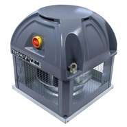 TEDH F400 - Roof mounted fan in horizontal discharge format - bim