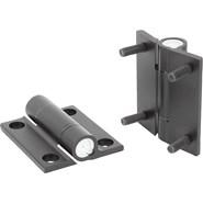 Hinges aluminium, with adjustable friction - bim
