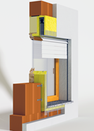 Monoblocco Termoisolante - RoverBlok Frangisole_RVRFMC3-90 porta - bim