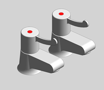 Hospita Pair Basin Pillar Tap - bim