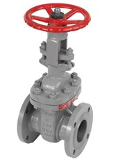D-LINE GATE VALVE ANSI CLASS 150 FLANGED END RF, CAST STEEL WCB FIG. 1118F - bim
