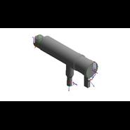Kit collettore fumi Ø 250 con serrande per ampliamento 4 VICTRIX PRO 100/120 ErP - bim