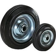 Wheels rubber tyres on steel plate rims - bim