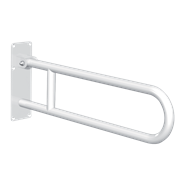 511516W Basic drop-down grab bar White stainless steel - bim
