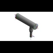 Kit collettore fumi per ampliamento Ø 200 con serrande VICTRIX PRO 80/100/120 ErP - bim