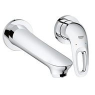 Eurostyle - Two-Hole Basin Mixer - Chrome - bim