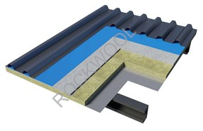 Pitched Metal Roof - Cool 'n' Comfort RL920 + Air gap - Cemboard under rafter - bim