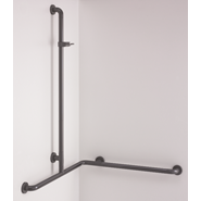 Shower handrail with shower head rail, movable - bim