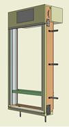 Monoblocco Termoisolante - RoverBlok Frangisole_RVRFMC3-500 finestra - bim