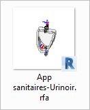 App sanitaires-Urinoir - bim