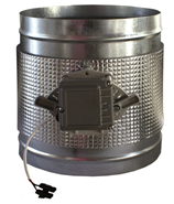 Compuerta motorizada circular de conducto - CPCC MTE - bim