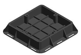 LC_NORIKA_Ductile Iron Heavy Duty Recessed Manhole Cover & Frame - bim