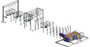 Sottostazione elettrica AT - Elementi per composizione - bim